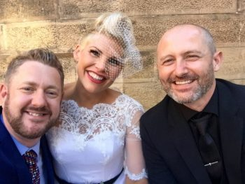 Rebecca and Tom at Darlinghurst Cell Block Theatre - Stephen Lee Young Male Sydney Marriage Celebrant