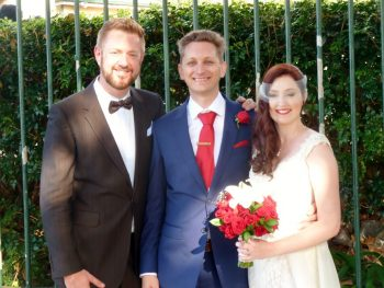 Philip and Julia married at Observatory Hill - Marriage Celebrant Sydney Stephen Lee