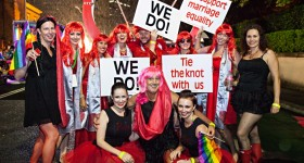 Gay Marriage - Sydney Mardi Gras - Young Marriage Celebrant Sydney - Male Marriage Celebrant Sydney - Modern Marriage Celebrant Sydney - Wedding by Stephen Lee