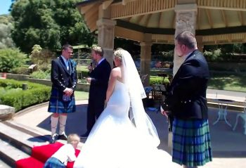 Handfasting Ceremony -Young Male Sydney Marriage Celebrant - Wedding by Stephen Lee