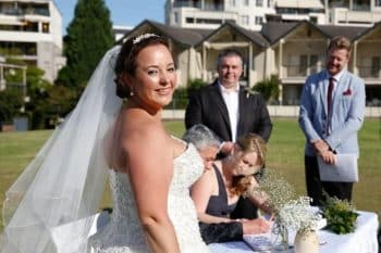 Paula and Dennis marry at Abbotsford - Stephen Lee Young Male Sydney Marriage Celebrant