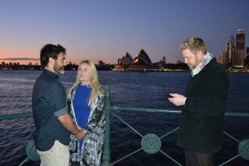 Joe and Cathy's Sydney Harbour Sunrise Wedding - Young Male Sydney Marriage Celebrant Stephen Lee