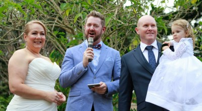 Alex and Maria - Young Male Sydney Marriage Celebrant Stephen Lee - Wedding at Lion Gate Lodge
