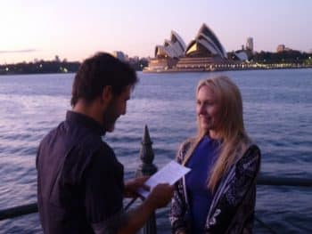 Joe and Cathy's Sydney Harbour Sunrise Wedding Vows - Young Male Sydney Marriage Celebrant Stephen Lee