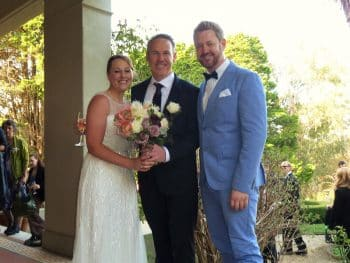 Steve and Karen - Young Male Sydney Marriage Celebrant Stephen Lee - Wedding at Hopewood House Bowral