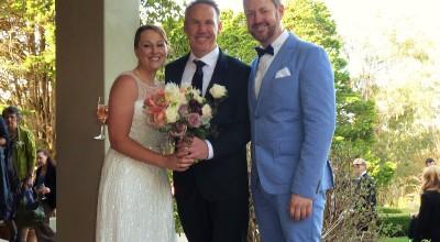 Steve and Karen - Young Male Sydney Marriage Celebrant Stephen Lee - Wedding at Hopewood House Bowral
