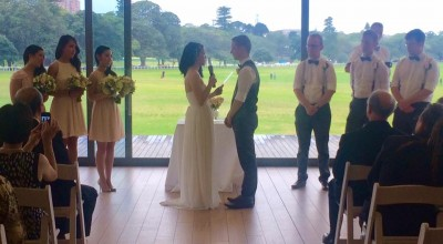 Jennifer and Michael's Centennial Park Wedding - Stephen Lee Young Male Sydney Marriage Celebrant