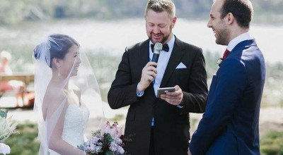 Wedding at Royal National Park - Stephen Lee Young Male Sydney Marriage Celebrant