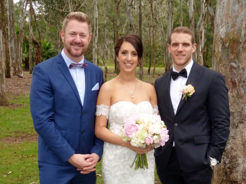 Andrea and Grady's Wedding at Nurragingy Reserve - Stephen Lee Young Male Sydney Marriage Celebrant