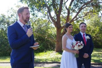 Barry and Amanda marry at Athol Hall, Mosman - Stephen Lee Modern Male Sydney Marriage Celebrant