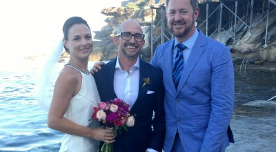 Jake and Vanessa's wedding at Wylies Baths, Coogee - Stephen Lee Sydney Marriage Celebrant