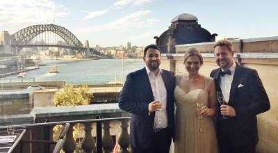 Jess and Jeita's Wedding at Café Sydney - Stephen Lee Modern Male Sydney Marriage Celebrant