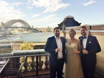 Jess and Jeita's Wedding at Café Sydney - Stephen Lee Modern Male Sydney Marriage Celebrant