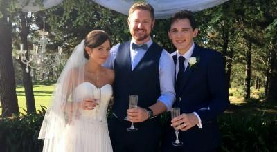 Erin and Gabe's Wedding at Sylvan Glen - Stephen Lee Modern Male Sydney Marriage Celebrant