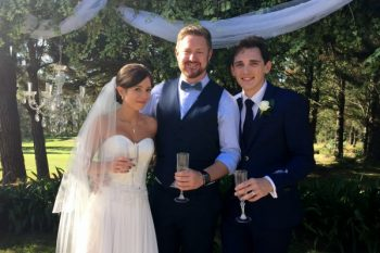 Erin and Gabe's Wedding at Sylvan Glen - Stephen Lee Modern Male Sydney Marriage Celebrant