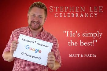 Stephen Lee Modern Male Sydney Marriage Celebrant Google Review