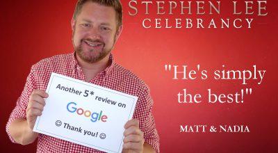 Stephen Lee Modern Male Sydney Marriage Celebrant Google Review