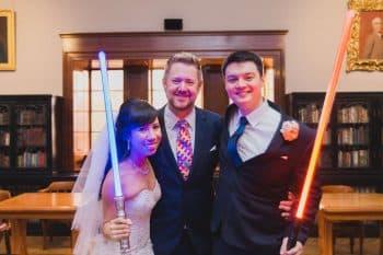 HIRESBG Sydney Marriage Celebrant Stephen Lee - Star Wars Wedding
