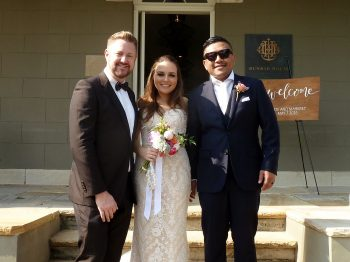 Kate, Mark and Stephen at Dunbar House Watsons Bay - Stephen Lee Modern Male Sydney Marriage Celebrant