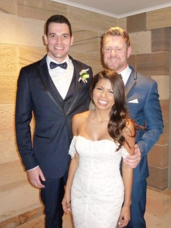Justin and Irma married by Sydney Marriage Celebrant Stephen Lee at Gunners Barracks Mosman