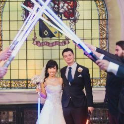 Star Wars Wedding Lightsaber Guard of Honour - Marriage Celebrant Sydney Stephen Lee