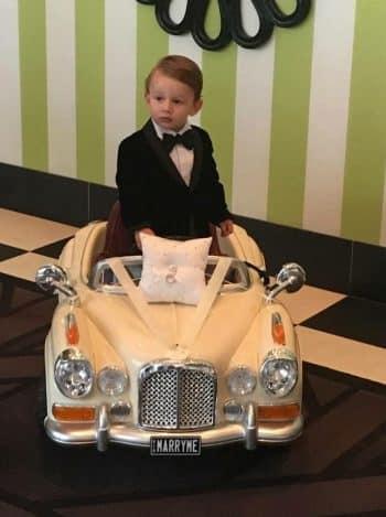 Page Boy in Wedding Car - Marriage Celebrant Sydney Stephen Lee