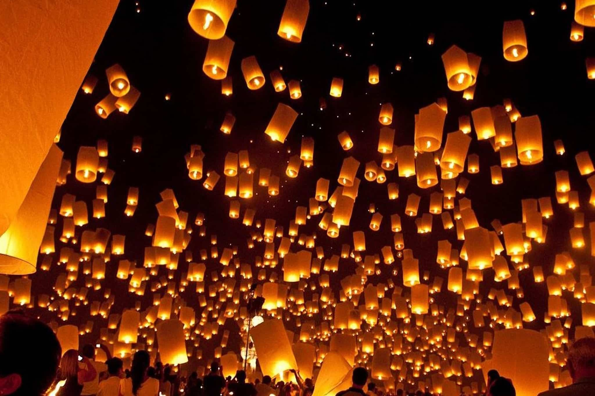 Paper Lanterns HiRes Background - Non-Religious Independent Sydney Funeral Celebrant Stephen Lee
