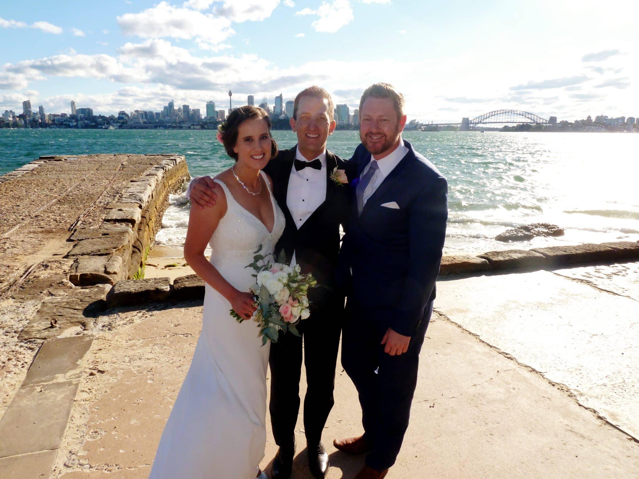 Chris and Hannah's Wedding at Bradleys Head - Stephen Lee Marriage Celebrant Sydney