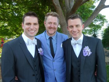 James and Alan at Cockatoo Island - Sydney Same Sex Celebrant Stephen Lee