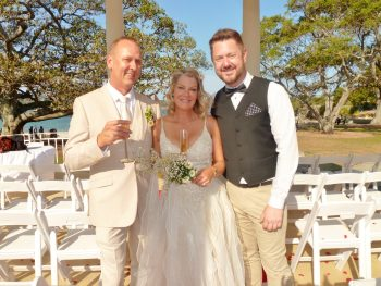 Tina and Len at Balmoral Wedding - Sydney Marriage Celebrant Stephen Lee