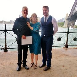 David and Victoria marry by Sydney Harbour Bridge - Marriage Celebrant Sydney Stephen Lee