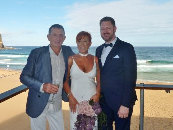 Pete and Fi at Avalon Beach SLSC - Marriage Celebrant Sydney Stephen Lee