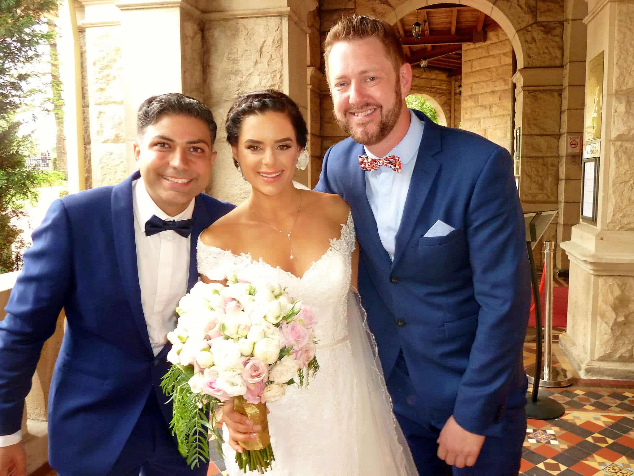 Mahan and Poppy at Curzon Hall - Marriage Celebrant Sydney Stephen Lee