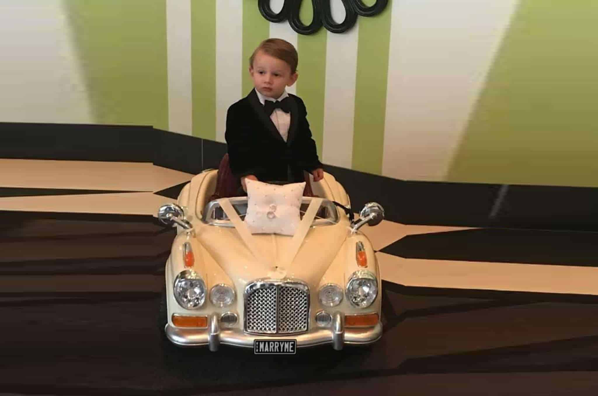 Page Boy incar - Sydney Marriage Celebrant Stephen Lee