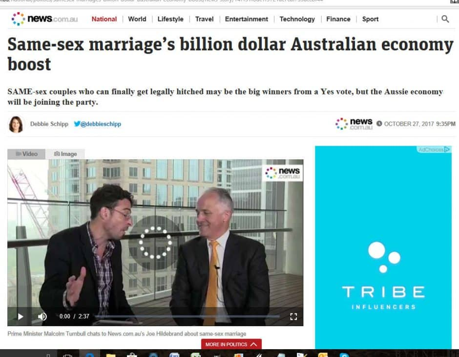 Same Sex Marriage Australia Economy - Sydney Marriage Celebrant Stephen Lee