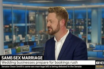 Stephen Lee Sydney Marriage Celebrant on ABC News