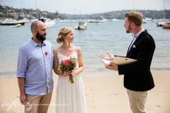 Kiss Me Quick Beach Wedding - Sydney Marriage Celebrant Stephen Lee