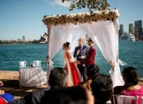 Poonam and Kunwar Sydney Harbour Wedding - Kiss Me Quick Wedding - easy simple small afforable - cheaper than Registry or Courthouse - Sydney Marriage Celebrant Stephen Lee