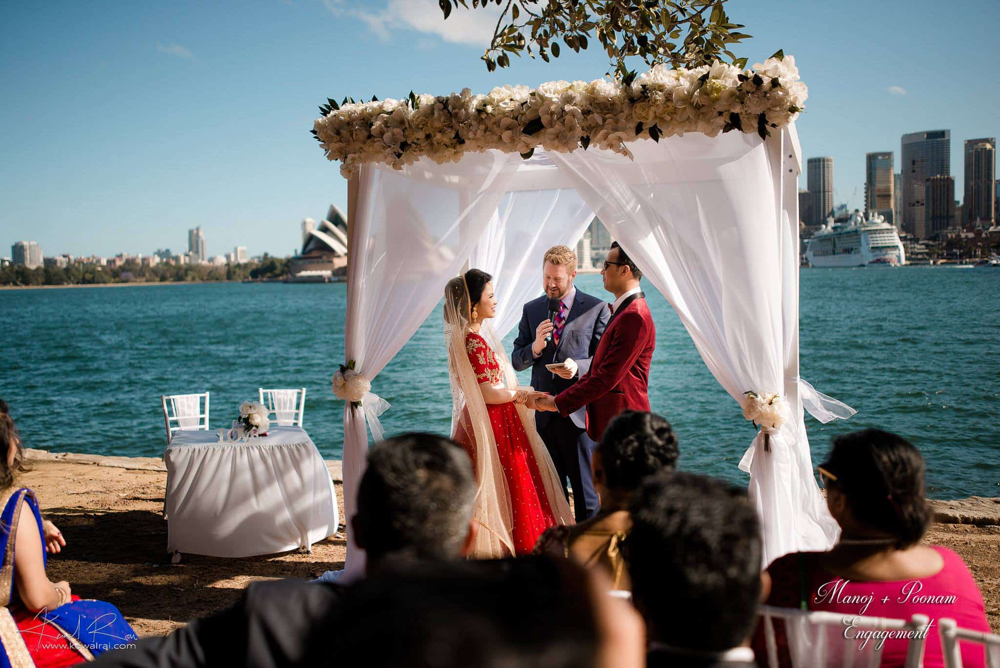 Poonam and Kunwar Sydney Harbour Wedding - Sydney Marriage Celebrant Stephen Lee