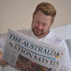 Sydey Marriage Celebrant Stephen Lee in The Australian