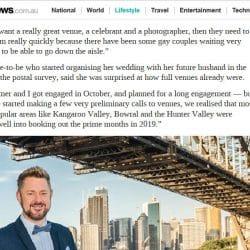 news.com.au Wedding Rush - Stephen Lee Sydney Marriage Celebrant