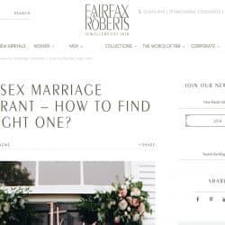 Fairfax Roberts Same Sex Marriage Celebrant