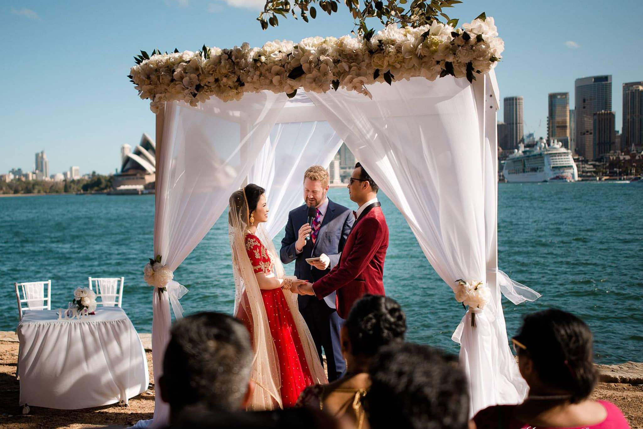 Harbour Wedding - Male Sydney Marriage Celebrant Stephen Lee