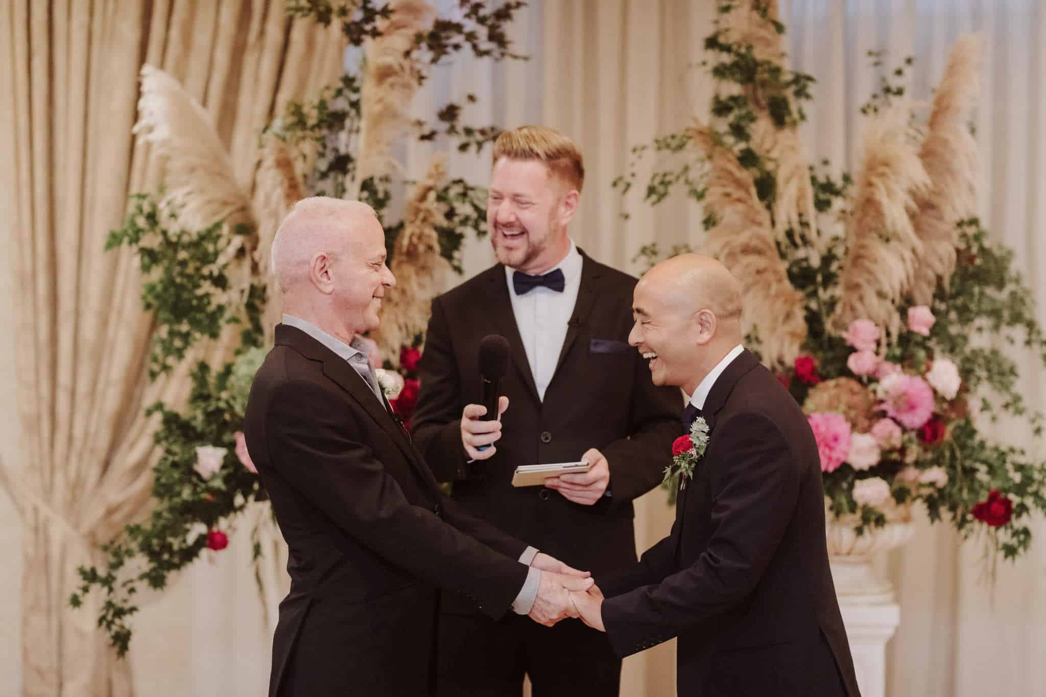 Same Sex Wedding - Stephen Lee Male Sydney Marriage Celebrant