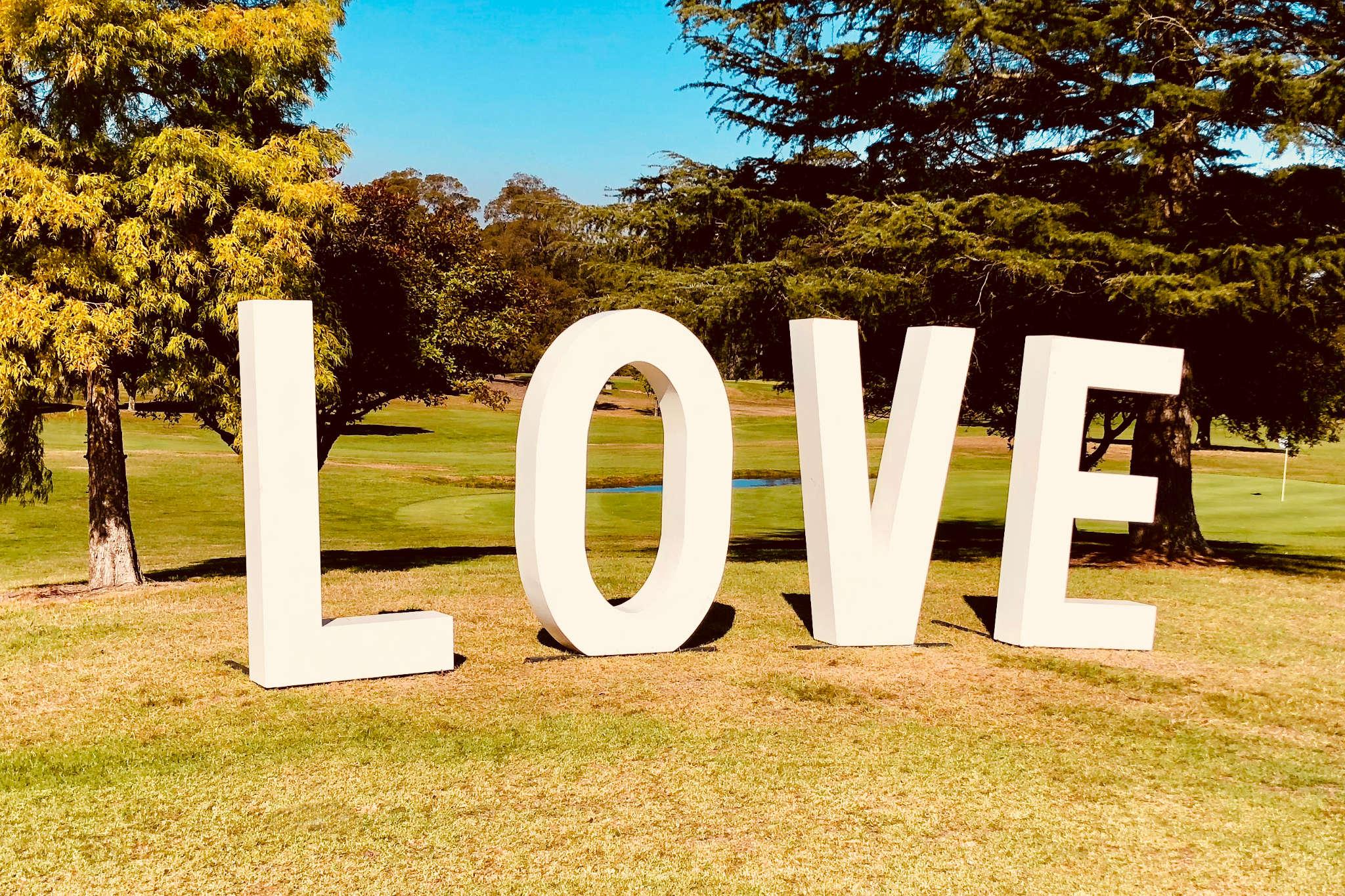 Love Sign Bowral Wedding - Marriage Celebrant Sydney Stephen Lee