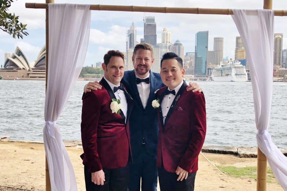 HERO John and Leo - Marriage Celebrant Sydney Stephen Lee