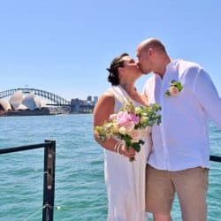 Amy and Anthony Sydney Harbour Wedding - Stephen Lee Marriage Celebrant