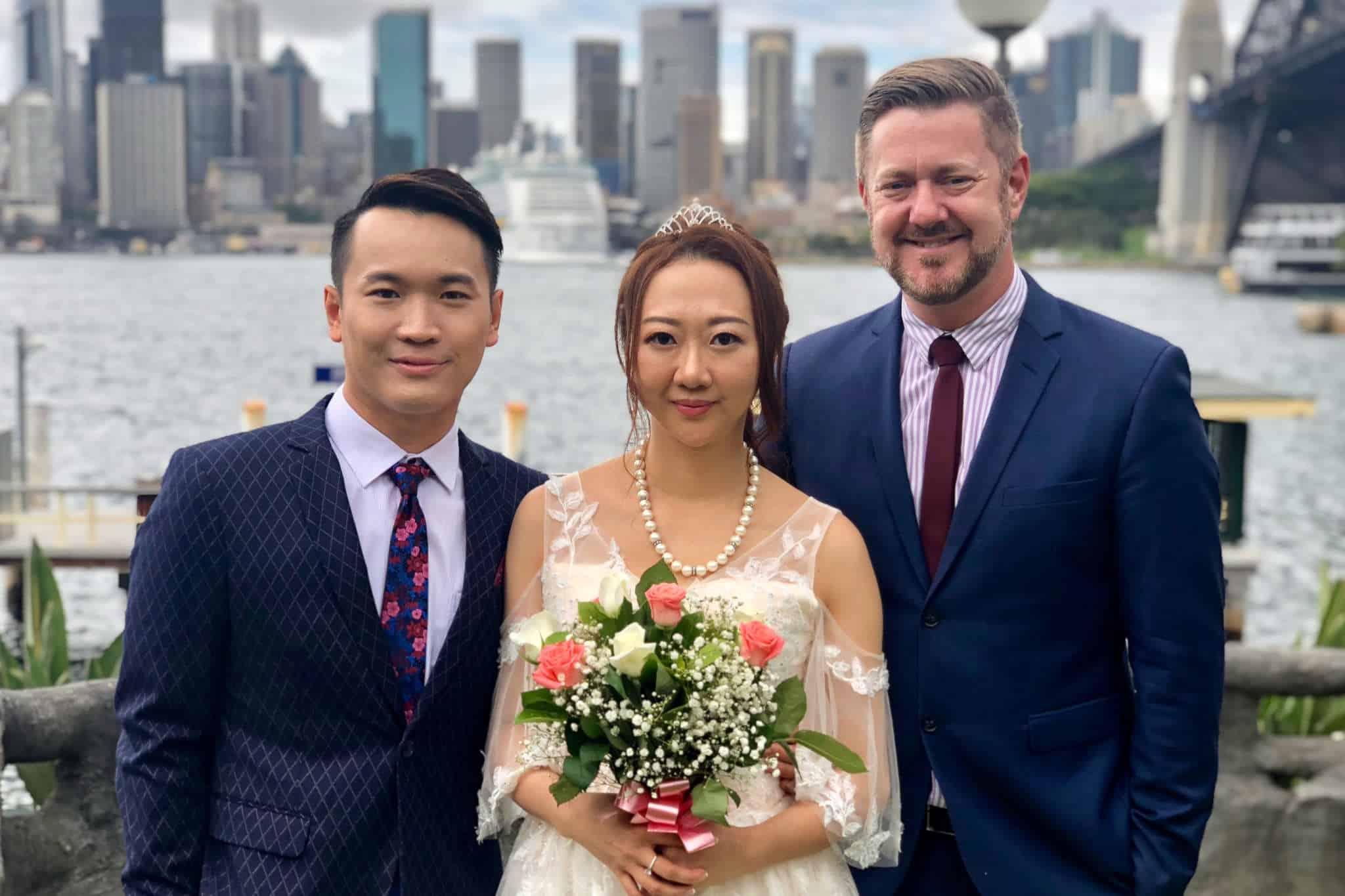Jeremy and JoJo Sydney Harbour Wedding - Marriage Celebrant Stephen Lee
