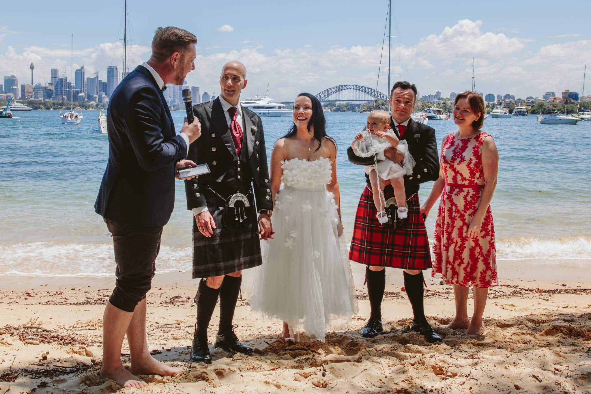 Kiss Me Quick Harbour Beach Wedding - Stephen Lee Marriage Celebrant Sydney