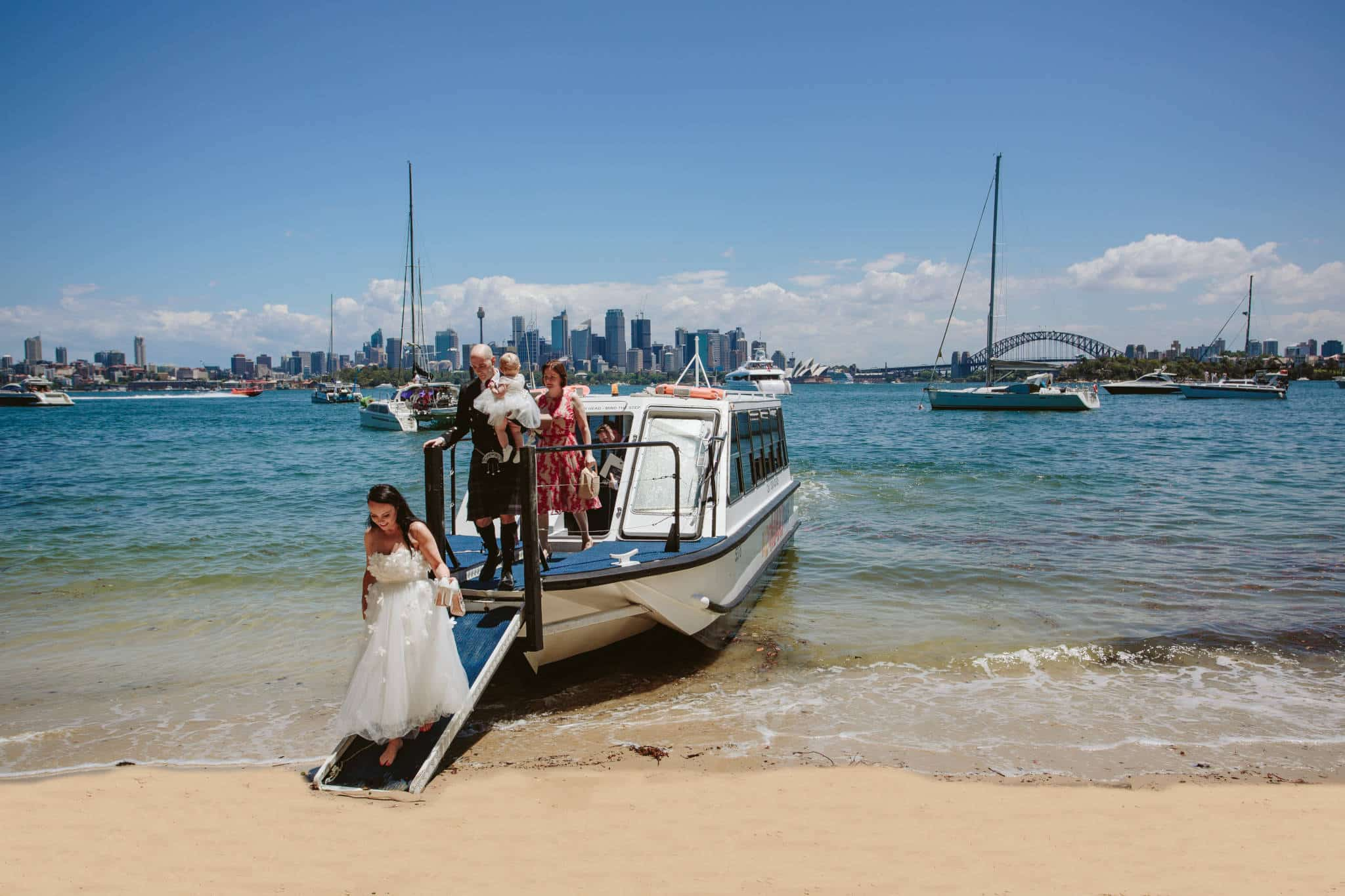 Kiss Me Quick Beach Wedding Landing - Stephen Lee Sydney Marriage Celebrant